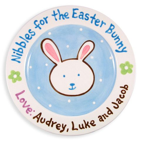 172 best personalized baby gifts images on pinterest boutique nibbles for easter bunny hand painted ceramic plate negle Gallery