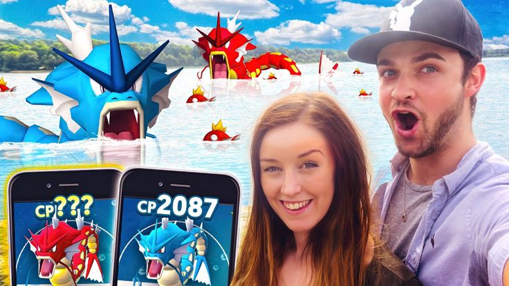 awesome Pokemon GO - DOUBLE GYARADOS EVOLUTION! (100% IV Great)