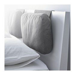 SKOGN Cushion - Röstånga gray - IKEA amazing idea to add to the back of the bed to make it more comfy to sit up and watch tv in bed