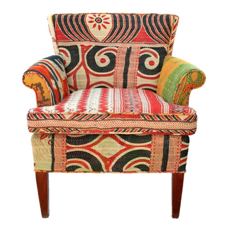 Vintage Kantha Chair | Lochan: Decor Chairs, Kantha Chairs, Fabulous Furniture, Kantha Quilts, Lochan Chairs, Deep Sets Seats, Motley Vintage, Indian Kantha, Seats Perfect