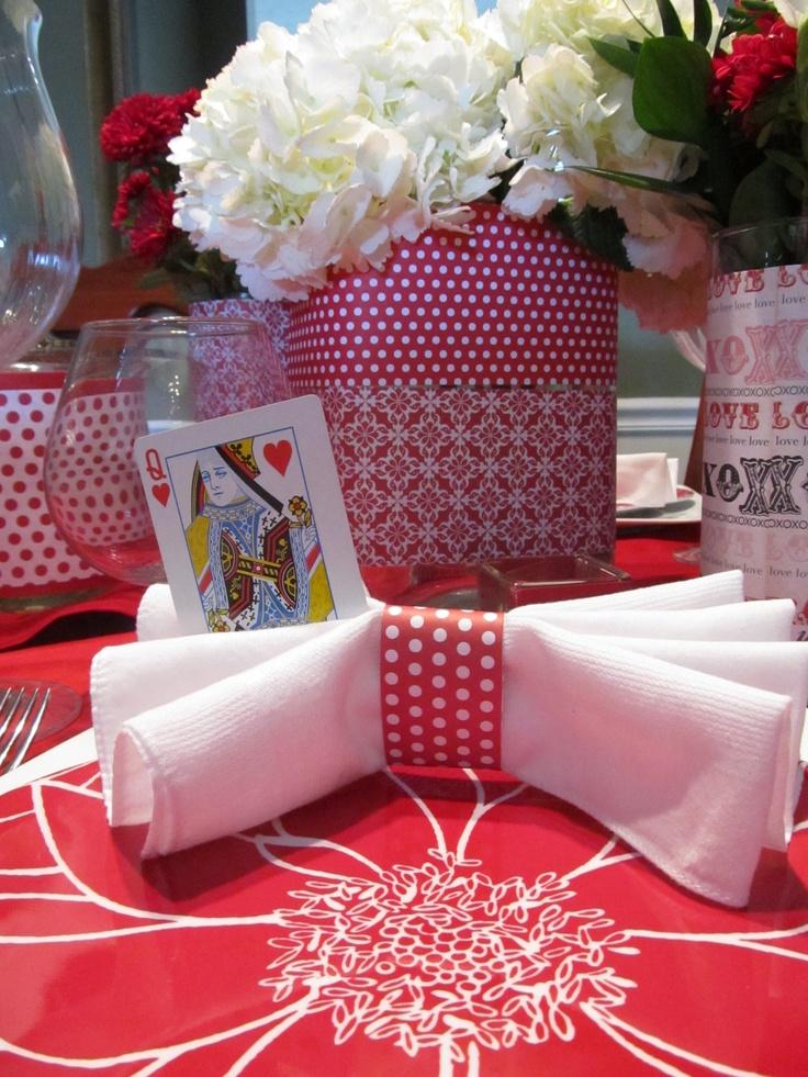 Fun napkin design for your Valentines table.