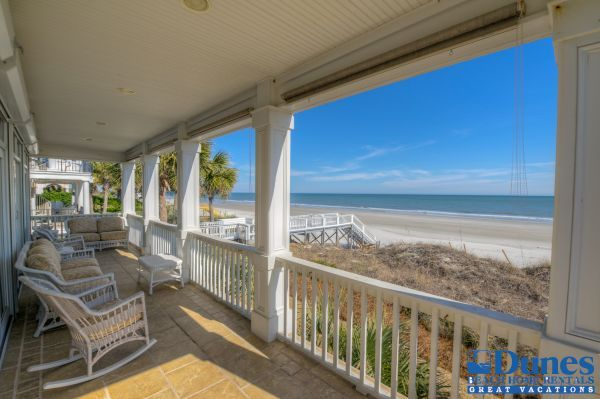 Paradise | Litchfield Beach Vacation Rental - Covered Deck First Floor