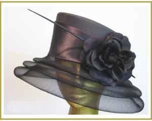 """Mother of the Bride"", evening, special occasion fashion hat."