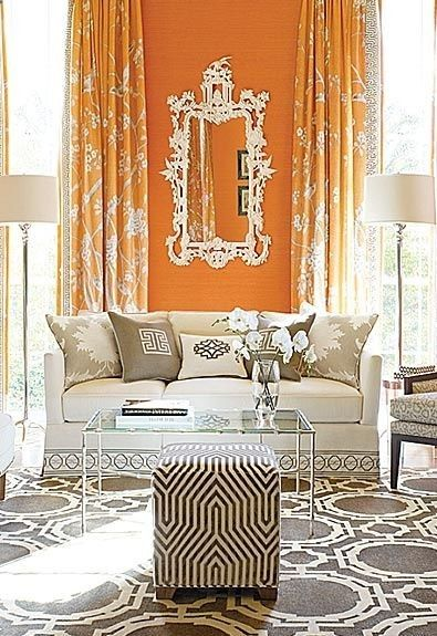 134 besten COLOR CORAL - ORANGE -MARSALA ROOMS\Decor Bilder auf - wohnzimmer ideen orange