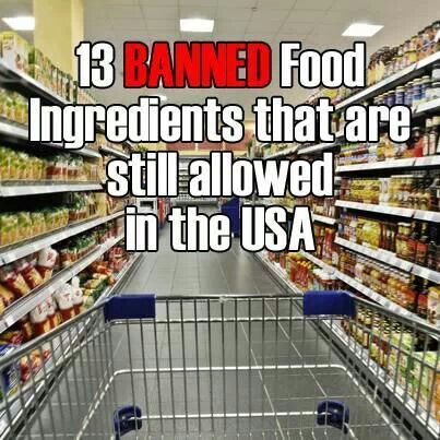 13 banned foods