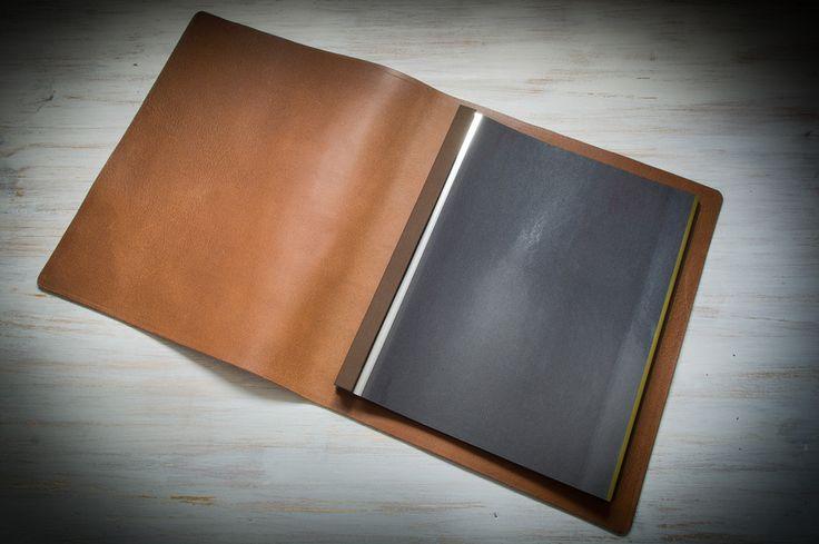 Large A3 custom hidden screw post portrait leather photo album Hartnack & Co