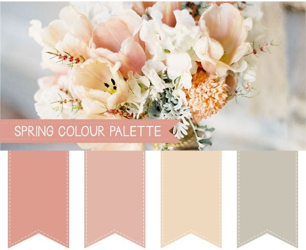 spring wedding colour palettes almost monotone but not quite hints of