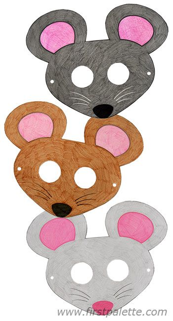 Mouse masks and other free printable animal masks