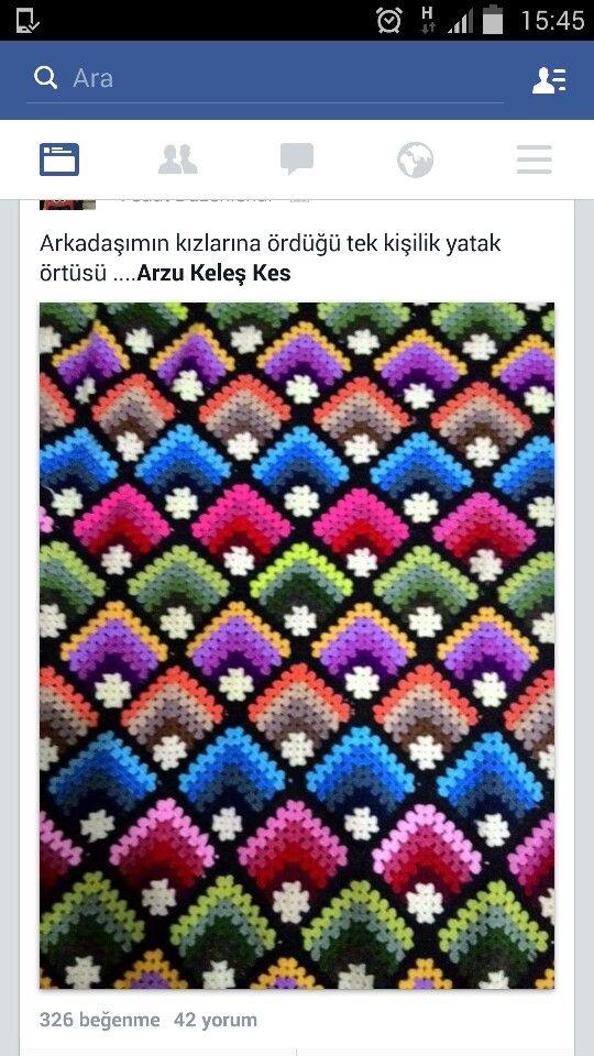 Crochet Miter Granny Square example.