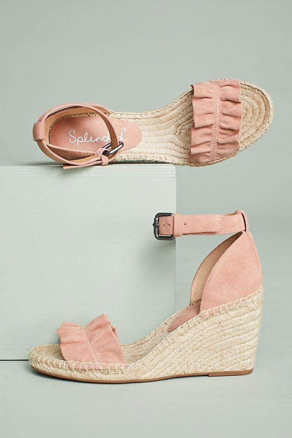 b93c8020691 Splendid Bedford Ruffle Wedge Sandals | Wishlist | Wedge sandals ...