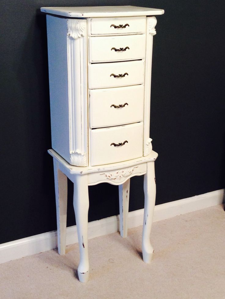 annie sloan chalk paint cheap walmart jewelry armoire redone in old white and now is