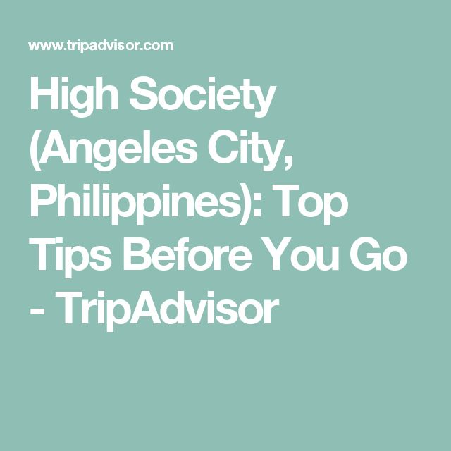 High Society (Angeles City, Philippines): Top Tips Before You Go - TripAdvisor