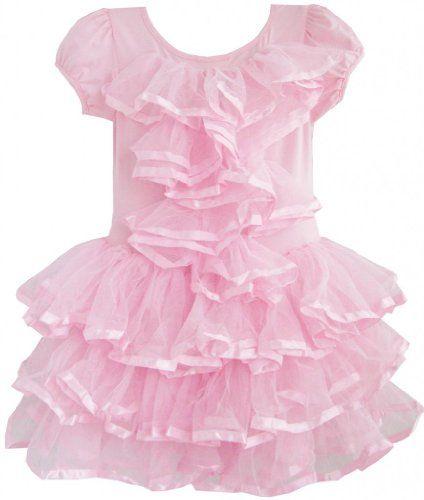 EA43 Sunny Fashion Little Girls' Dress Multi-layer Tulle Tutu Dancing Party 4 Sunny Fashion http://www.amazon.com/dp/B00F77M64E/ref=cm_sw_r_pi_dp_L5Atub0T4P7AD