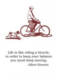 Wenskaart Letterpress - Bicycle #quote