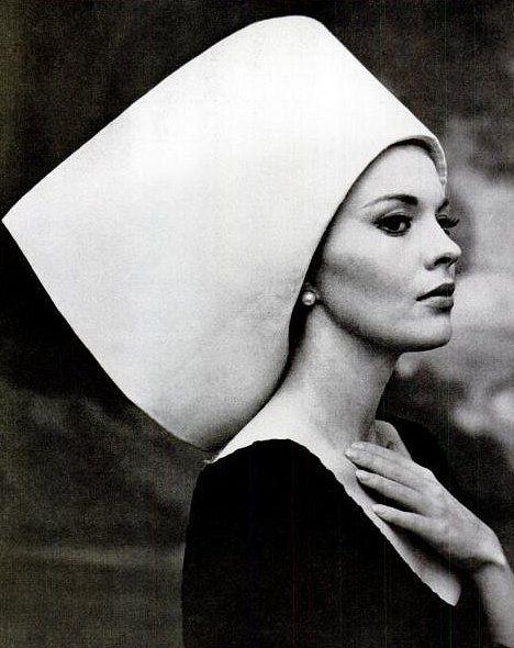 Jean Seberg in hat by Yves Saint Laurent, photo by Carlo Bavagnoli, 1963