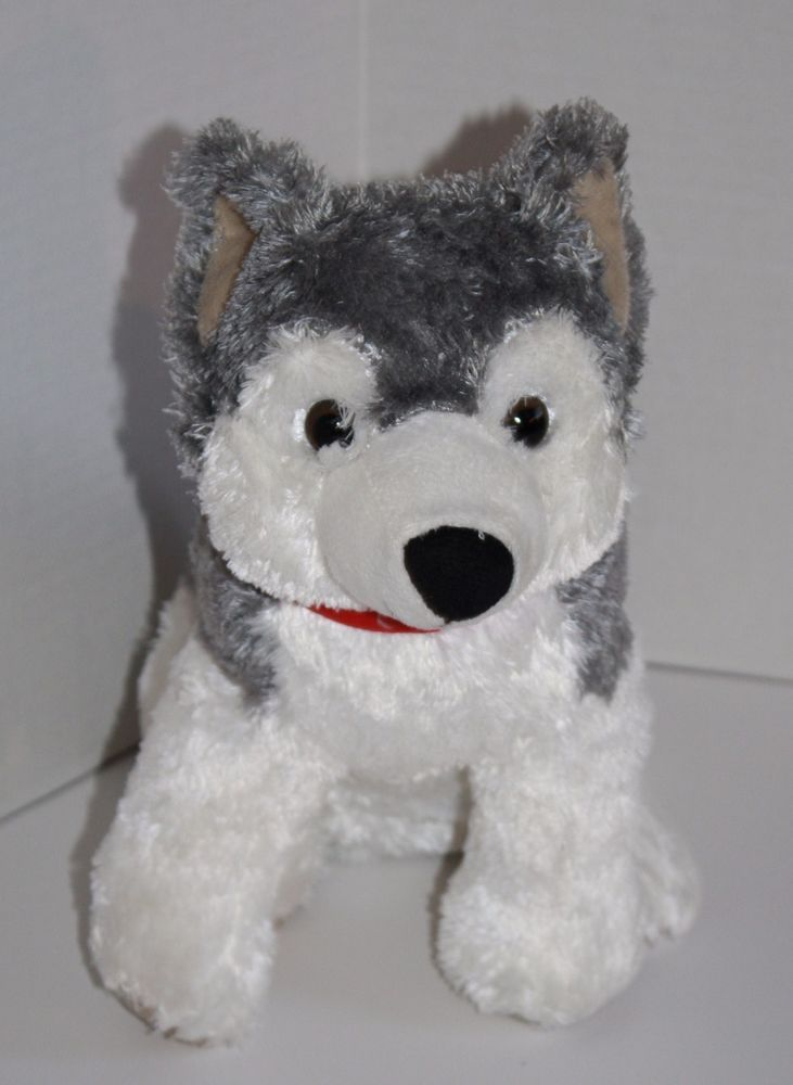 Pier 1 Imports Siberian HUSKY DOG Soft Toy Plush Stuffed ...