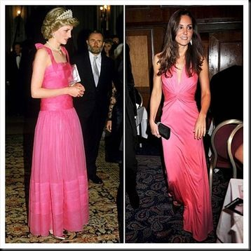 Kate Middleton Comparison with Princess Lady Diana