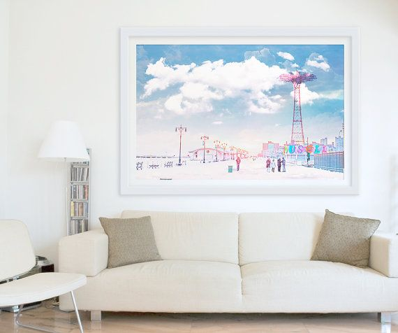 large wall art coney island boardwalk nursery decor by minagraphy