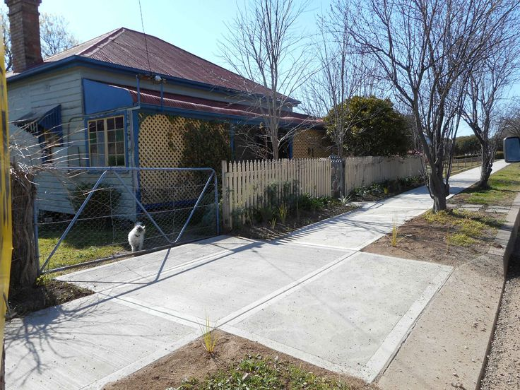 front of my house with new footpath, Aug 2015