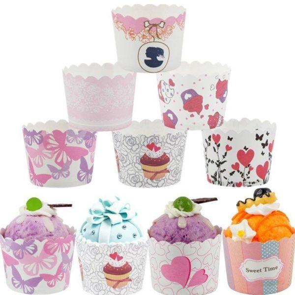 50 Stucke Bunte Papier Kuchen Box Tassen Tray Liner Backen Cupcake