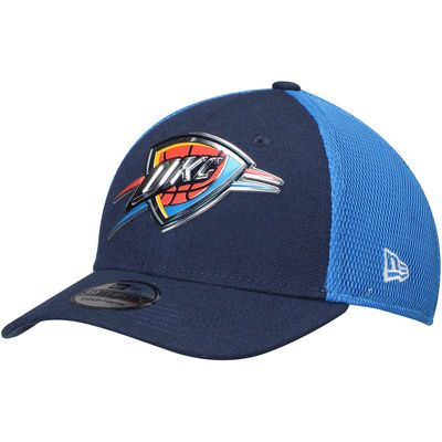 Youth Oklahoma City Thunder New Era Navy/Blue On-Court 39THIRTY Flex Hat