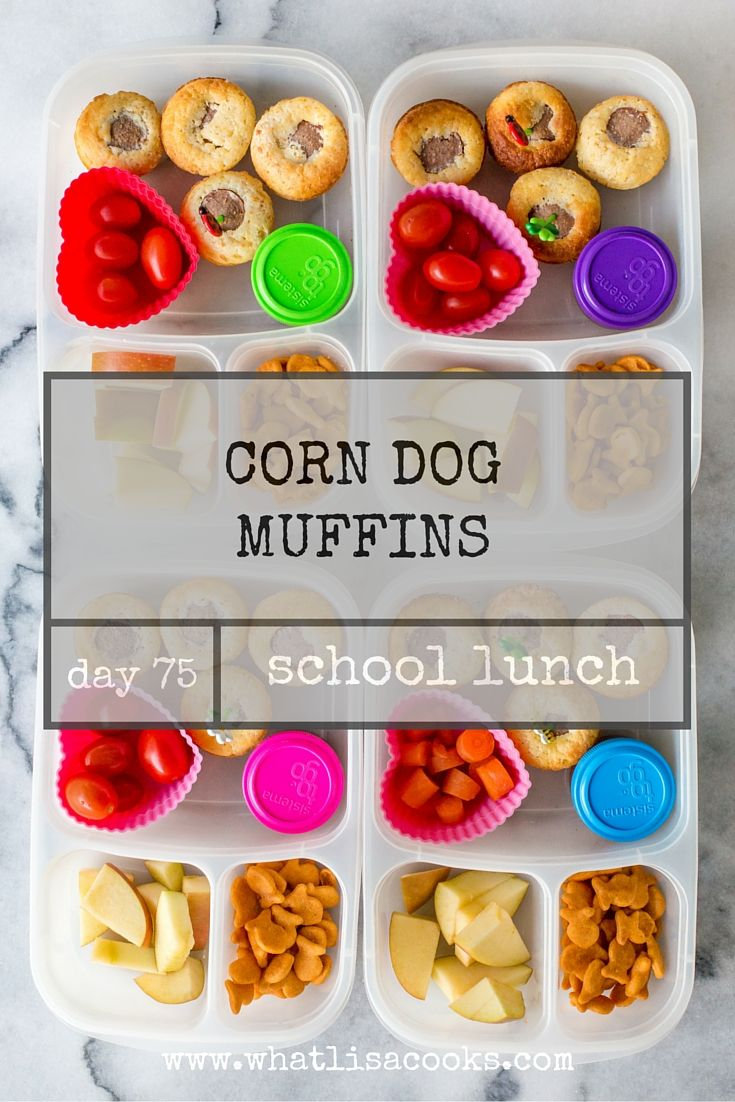 Corn dog muffins, Easy school lunches and School lunch on Pinterest