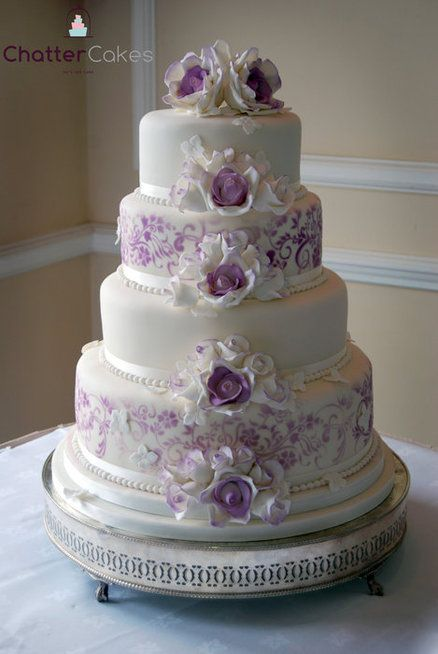 3 tier wedding cake with roses 63 best images about purple wedding cakes on 10350