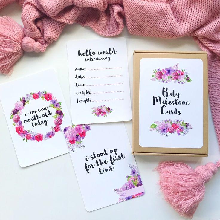 baby milestone cards nz