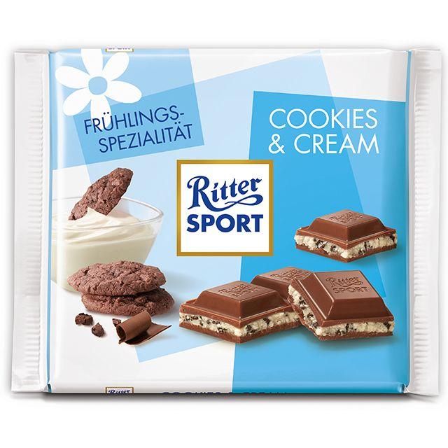 RITTER SPORT Frühlingssorte Cookies & Cream (2016)