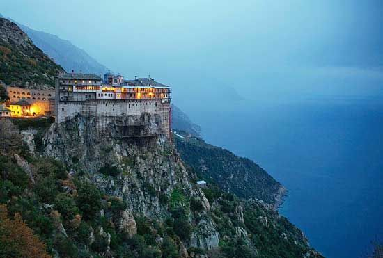 Simonos Petra- click on for more information over the monasteries