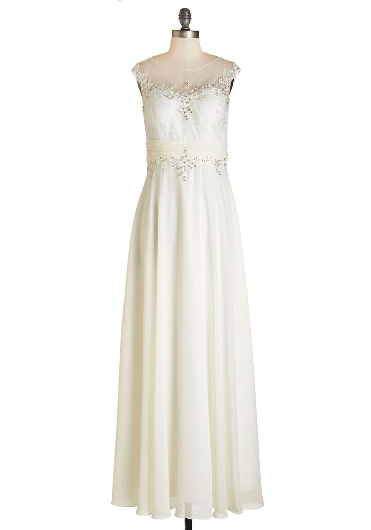 I Now Pronounce You Dress, white-and-ivory gown @modcloth (I don't really want an ivory dress, but it's really pretty)