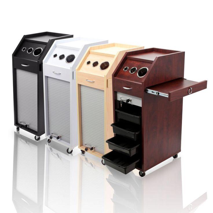 Wood Styling Station LOCKING Trolley Salon Equipment Cart 4 Drawers Wheel Tattoo #SalonSupplyStore