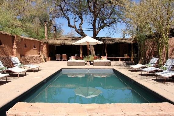 Poolside at Awasi in the Atacama Desert of Chile