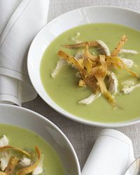 Chicken-and-Avocado Soup with Fried Tortillas  - Avocado Recipes from Food & Wine