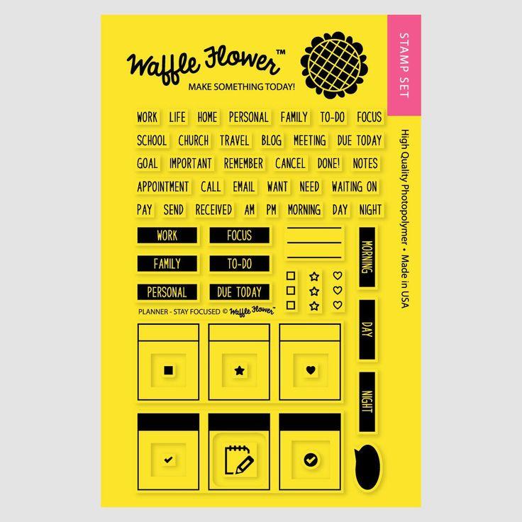 Planner: Stay Focused Stamp Set – WaffleFlower.com