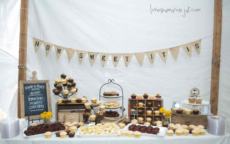 Wedding Banners For Reception Table | ... pennant banner - rustic wedding decor - dessert table - reception