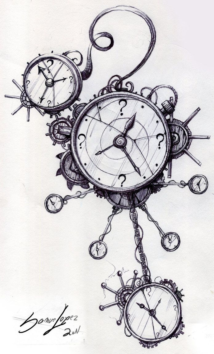 Line Drawing Clock : Best images about drawing on pinterest steampunk