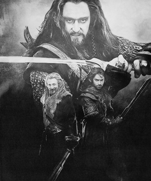 Thorin, Fíli & Kíli - The Hobbit (Good looking dwarves had me confused.)
