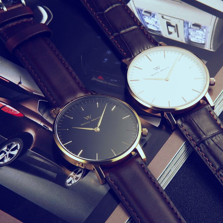 Elegant minimalist fashion watch, just match for men's white and golden style…