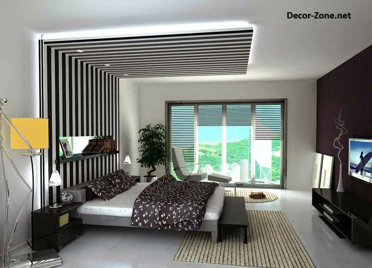 black drywall on a white ceiling design for bedrooms