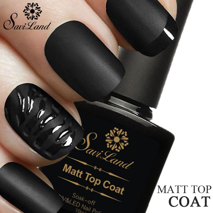 Saviland 1pcs 10ml Matt Varnish Matte Top Coat Nail Gel Polish Nail Art Finish Top Coat Gel Lacquer Matt Top Gel
