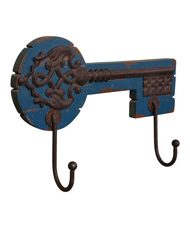 Take a look at this Blue & Rust Key Wall Hook by Wilco on #zulily today!