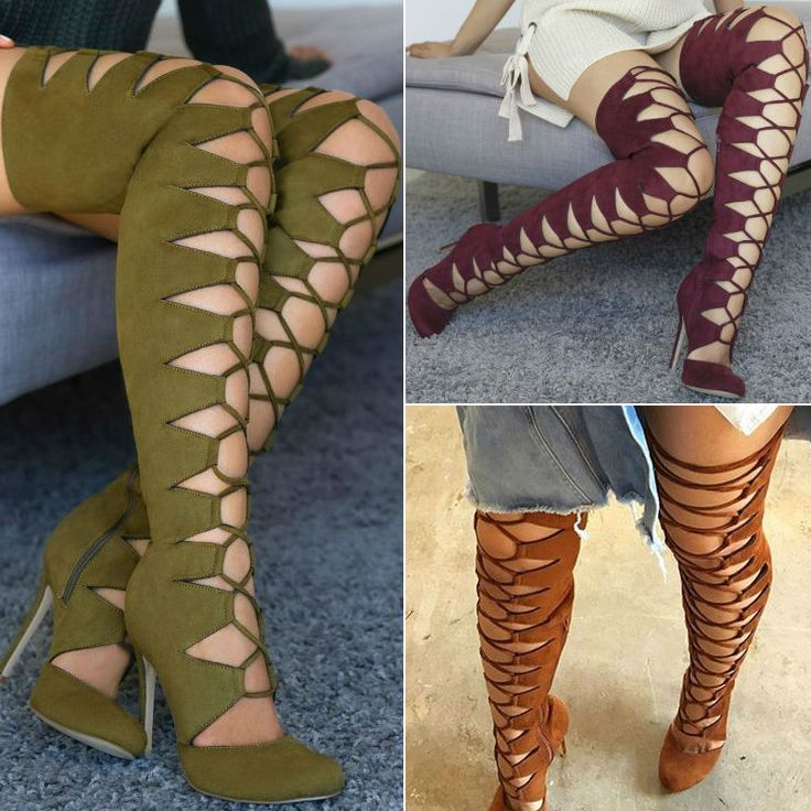 lace up toe thigh high boots discount shoes