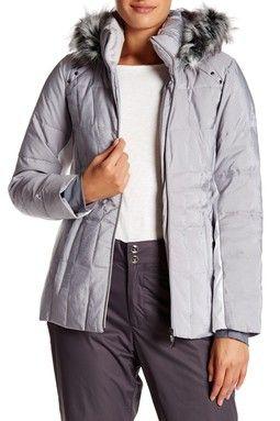 Julia Shimmer Jacket With Faux Fur Trim
