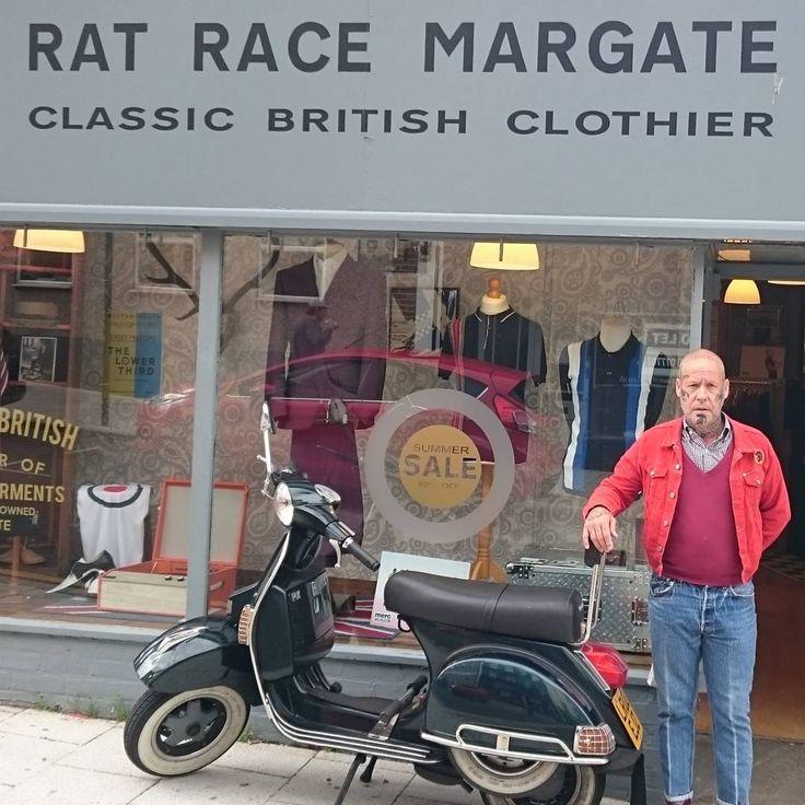 Cheers Dave For Stopping By @Ratracemargate  Www.ratracemargate.co.uk  #Ratrace #Margate #Classic #British #Clothier #Skinhead #Suedehead #Subculture #Style #DrMartens #Trojan #WayOfLife #Ska #Reggae #2tone #Vespa #Scooter #Ikon #PrettyGreen #Merc #Relco #Warrior #Brutus #HawkinsAndJoseph #DickensAndBrowne #ArtGallery #Lindybop #Madcap #Hellbunny #FreddiesOfPinewood