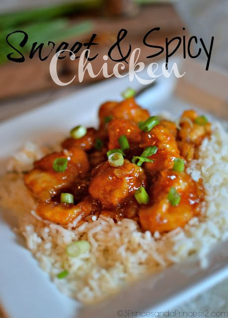 Spicy and Sweet Chicken - Use either half the chicken or double the sauce.   I used sweet chili sauce and no red peppers