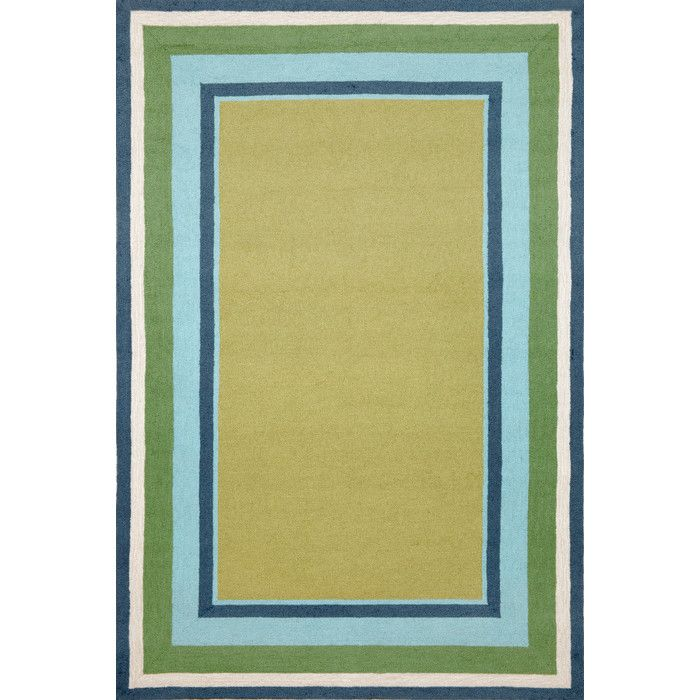 Simple yet fashionable pattern lends itself well to the loosely tufted construction, while sophistication is achieved though intricately blended colors. Ideal for Indoor or Outdoor, these hand-hooked synthetic rugs are easy to clean and UV stabilized.