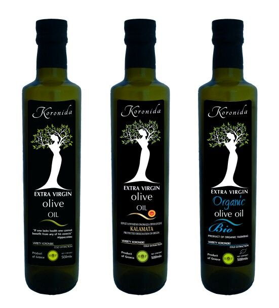 Olive oil KORONIDA on Packaging of the World - Creative Package Design Gallery #Premium_olive_oil #Greece #Kalamata #health #packaging_disign