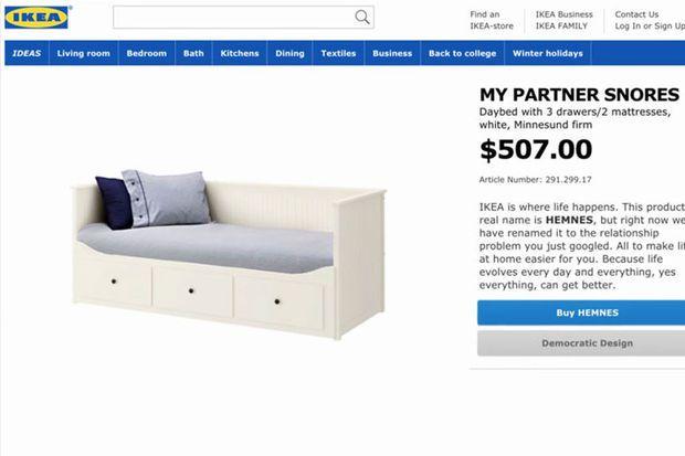 Ikea hernoemt producten naar gezins- en relatieproblemen