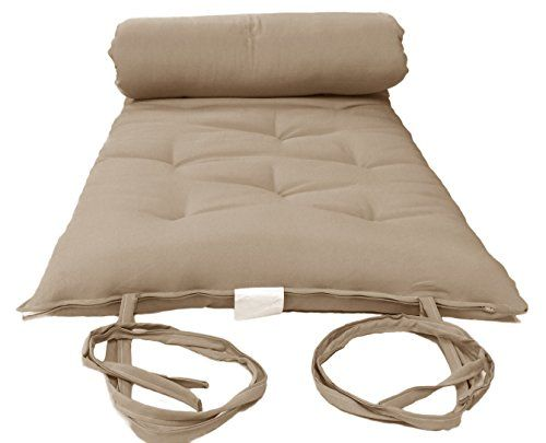 Brand New Queen Size Tan Traditional Japanese Floor Futon Mattresses,  Foldable Cushion Mats, Yoga